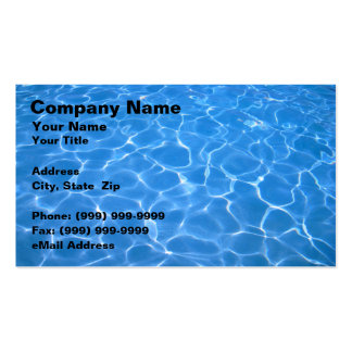 Agua azul cristalina tarjetas de visita