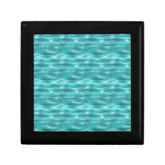 Agua azul de la playa de Cyrstal Caja De Regalo