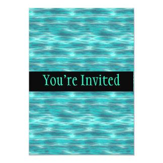 """Agua azul de la playa de Cyrstal Invitación 5"""" X 7"""""""