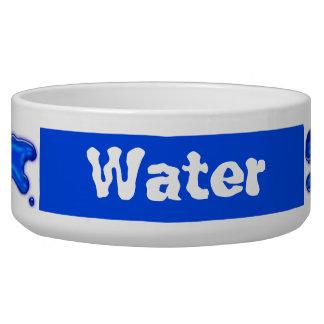 Agua azul de las gotas boles para gatos