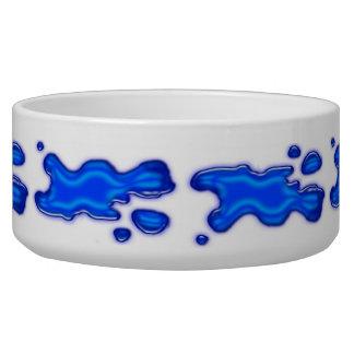 Agua azul de las gotas bol para perro