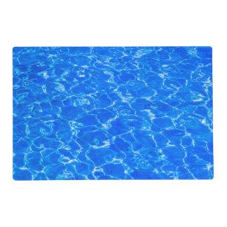 Agua azul fresca salvamanteles