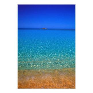 Agua azul, islas de Exuma, Bahamas Cojinete