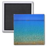 Agua azul, islas de Exuma, Bahamas Imán Cuadrado