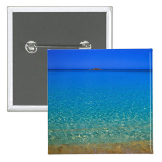 Agua azul, islas de Exuma, Bahamas Pin Cuadrado