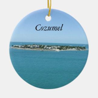 Agua azul Ornamement tropical de Cozumel Ornamento Para Arbol De Navidad