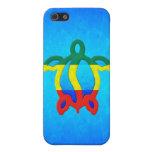 Agua azul Rasta Honu iPhone 5 Carcasa