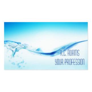 Agua azul tarjetas de visita