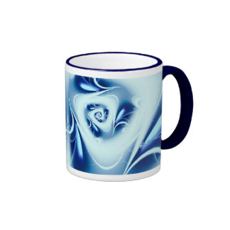 Agua azul taza de café