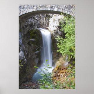 Agua bajo verso de la impresión w/Scripture del pu Impresiones