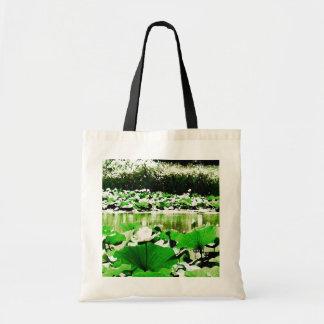 Agua blanca Lotus Bolsa De Mano