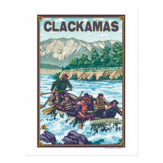 Agua blanca que transporta en balsa - Clackamas, Tarjetas Postales