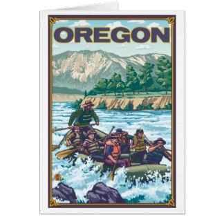 Agua blanca que transporta en balsa - Oregon Tarjeta Pequeña
