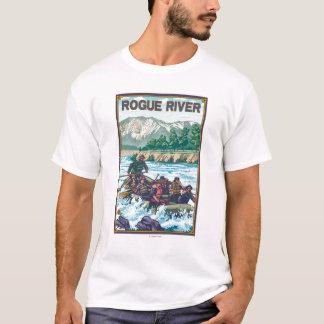 Agua blanca que transporta en balsa - río del playera