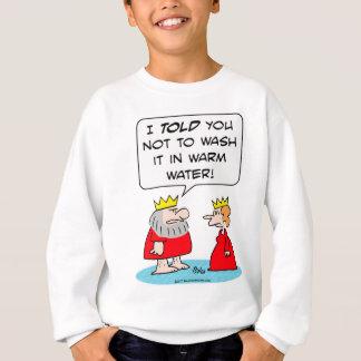 agua caliente del lavado del traje del sudadera
