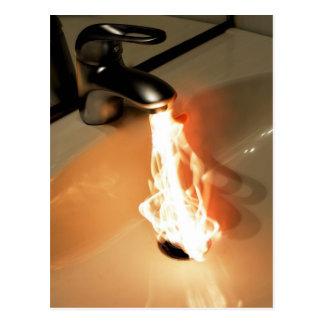 Agua caliente postales