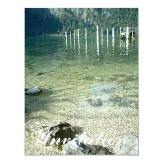 """Agua clara del lago invitación 4.25"""" x 5.5"""""""