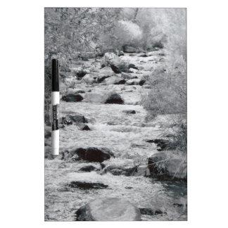 Agua corriente tableros blancos