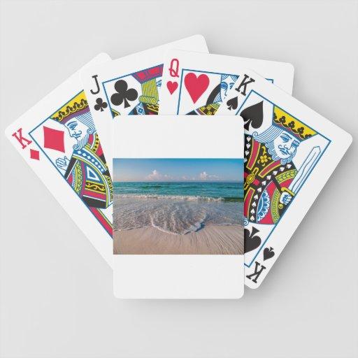 agua cristalina de la Florida en la playa Baraja Cartas De Poker