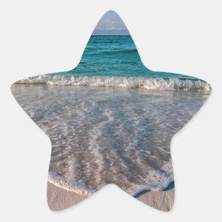 agua cristalina de la Florida en la playa Pegatina En Forma De Estrella