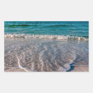 agua cristalina de la Florida en la playa Pegatina Rectangular