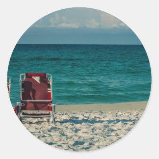 agua cristalina de la Florida en la playa Pegatina Redonda