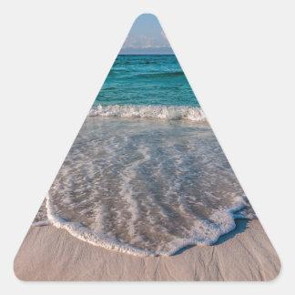 agua cristalina de la Florida en la playa Pegatina Triangular