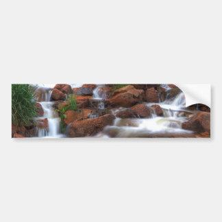 Agua de conexión en cascada pegatina para auto