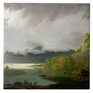 Agua de Derwent con Skiddaw en la distancia, c.179 Azulejo Cuadrado Grande