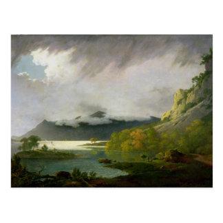 Agua de Derwent con Skiddaw en la distancia, Tarjeta Postal