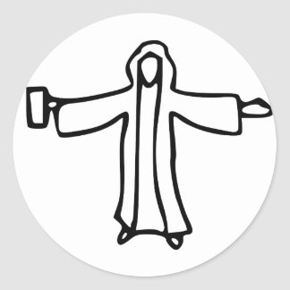 Agua de Jesús en el vino Pegatina Redonda