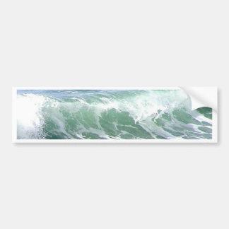 Agua de la espuma del océano de las ondas pegatina de parachoque