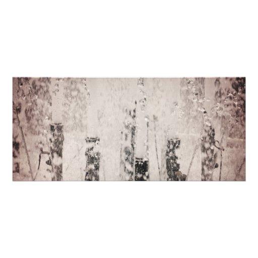 Agua de la fuente tarjetas publicitarias