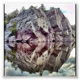 Agua de la roca fotografías