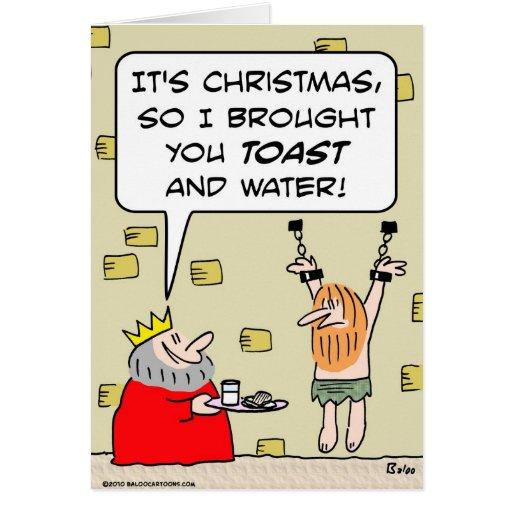 agua de la tostada del navidad del rey tarjeta de felicitación