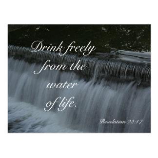 Agua de la vida tarjeta postal