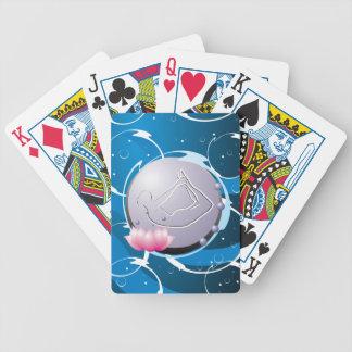 Agua de la yoga baraja cartas de poker