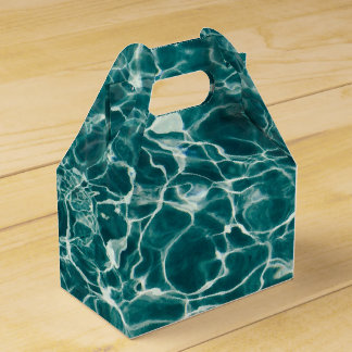 Agua de ondulación ondulada azul clara del fuego cajas para regalos de boda