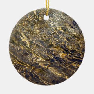 Agua de oro 2 de la fuente adorno redondo de cerámica