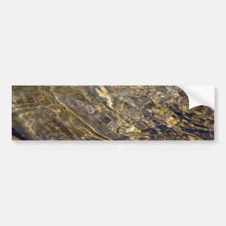 Agua de oro 2 de la fuente pegatina de parachoque