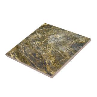 Agua de oro de la fuente azulejo cuadrado pequeño