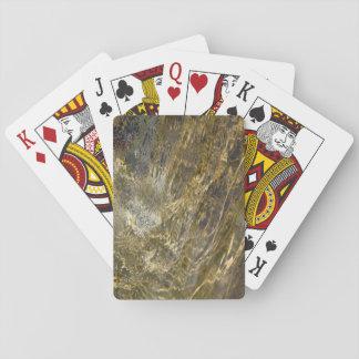 Agua de oro de la fuente cartas de póquer