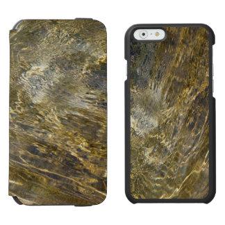 Agua de oro de la fuente funda billetera para iPhone 6 watson
