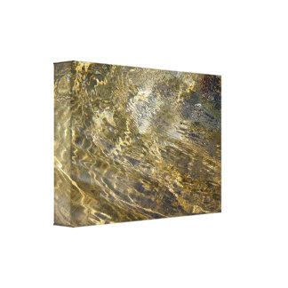 Agua de oro de la fuente impresión en lienzo