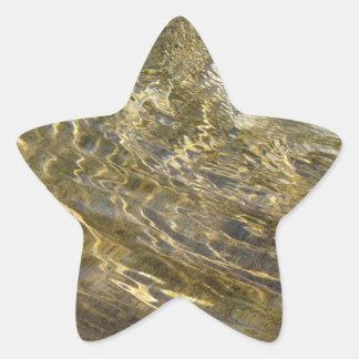 Agua de oro de la fuente pegatina en forma de estrella