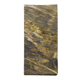 Agua de oro de la fuente servilleta