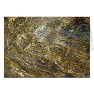 Agua de oro de la fuente tarjeta de felicitación