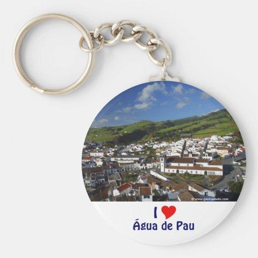 Agua de Pau - Azores Basic Round Button Keychain
