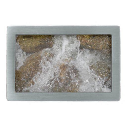 Agua de precipitación hebilla cinturon rectangular
