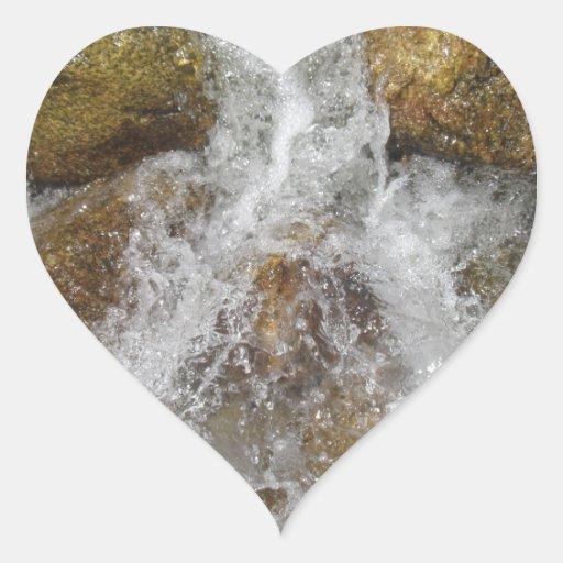 Agua de precipitación pegatina corazón personalizadas